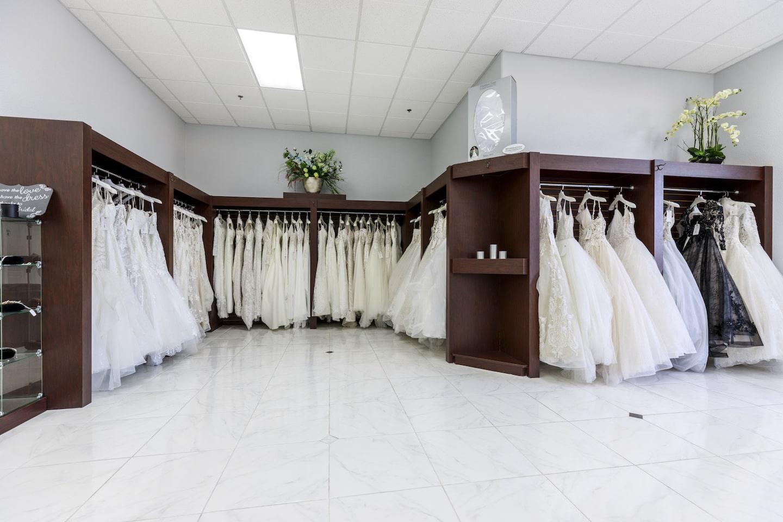 We offer a wide selection of designer wedding dresses.